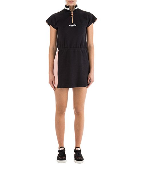 Short mini dress Diadora 502.173643 black / dusty rose