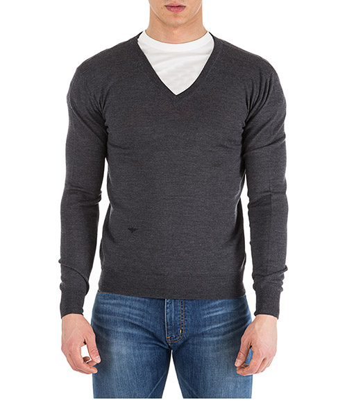Men's v neck jumper sweater pullover
