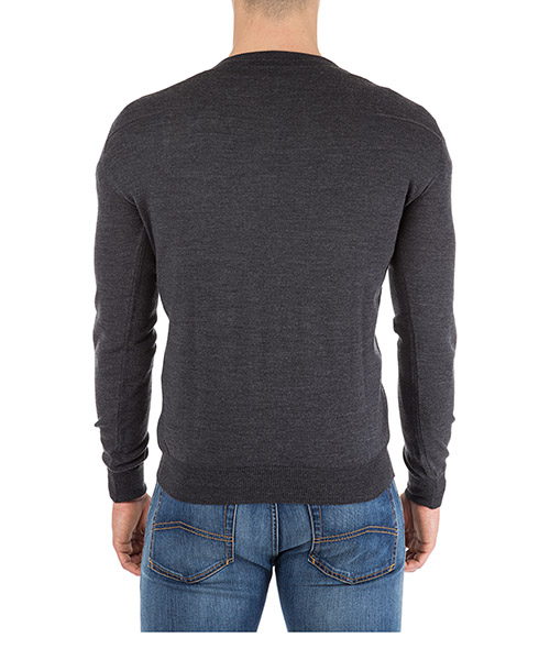 Men's v neck jumper sweater pullover secondary image