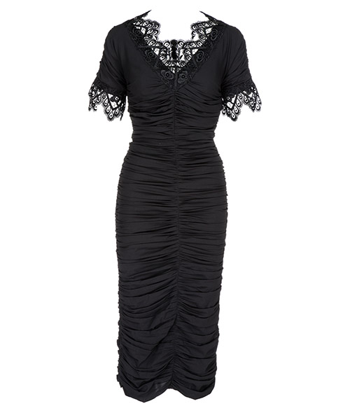 Knee length dress Dolce&Gabbana F6A4QTFUABHN0000 nero