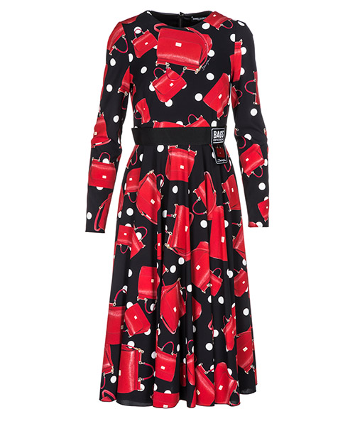 Knee length dress Dolce&Gabbana Fashion Devotion F6C0CTFSAW3HNV60 rosso