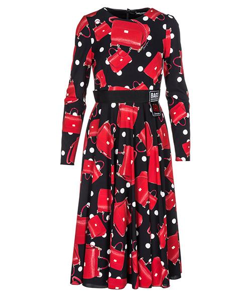 Knielänge Kleid Dolce&Gabbana Fashion Devotion F6C0CTFSAW3HNV60 rosso