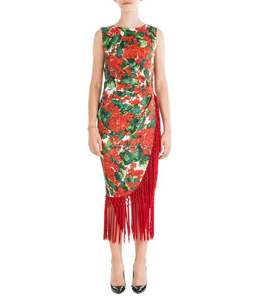 Платье длиной до колен Dolce&Gabbana F6C8ATHS1ZWHAV03 rosso
