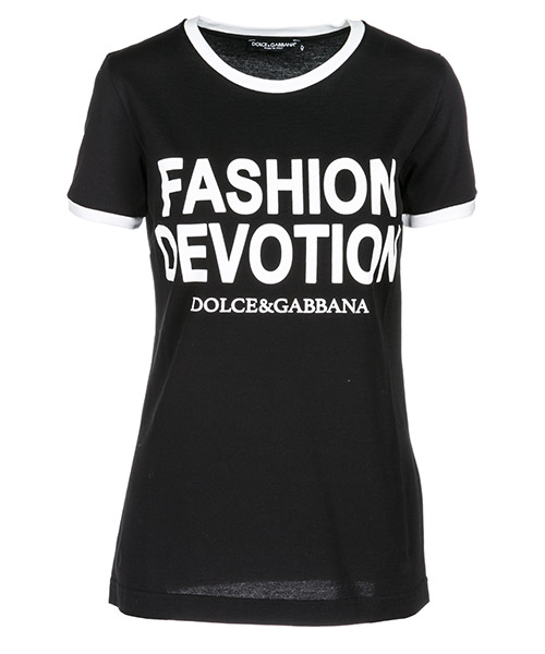 T-shirt Dolce&Gabbana Fashion Devotion F8H32TG7QRXN0000 black