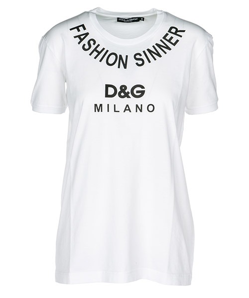 T-shirt Dolce&Gabbana Fashion Sinner F8K74TG7QQYW0800 white