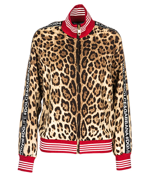 Sweatshirt mit Zip Dolce&Gabbana F9C50TFSADDHK13M marrone