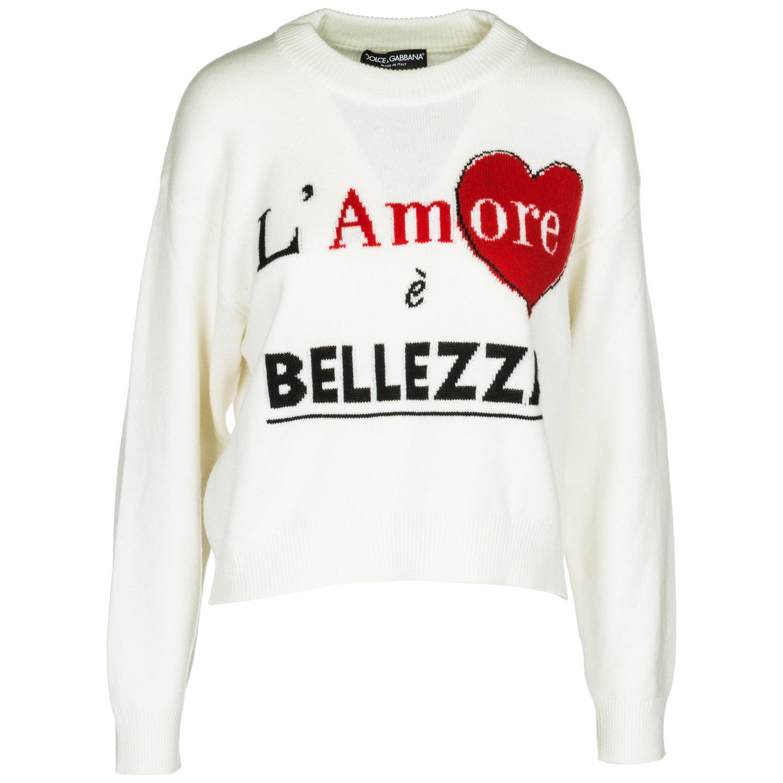 e45c2be431ac7 Maglione Dolce Gabbana FX292TJAWGSS9000 bianco