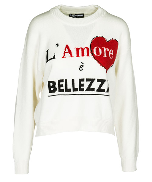 Maglione Dolce&Gabbana FX292TJAWGSS9000 bianco