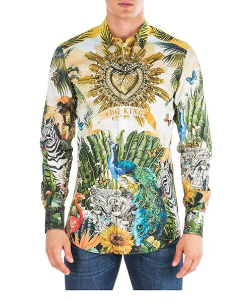 Camisa Dolce&Gabbana Latin king G5EJ0THP5XWHHIH3 bianco