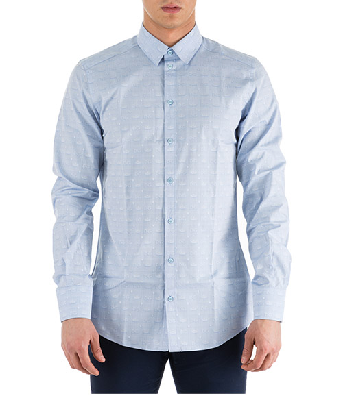 Camicia Dolce&Gabbana G5EJ1TFJ5FSB1581 azzurro