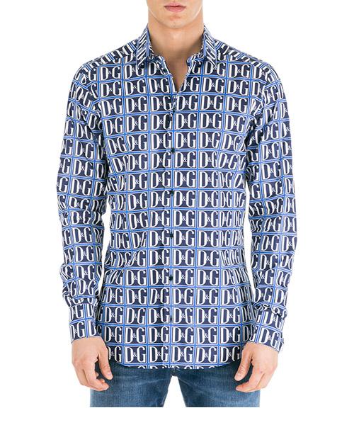 Camicia Dolce&Gabbana G5EJOTHS5DDHBY43 blu
