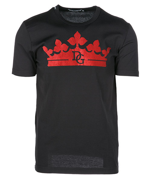T-shirt Dolce&Gabbana Logomania G8HL0TG7OYPN0000 nero