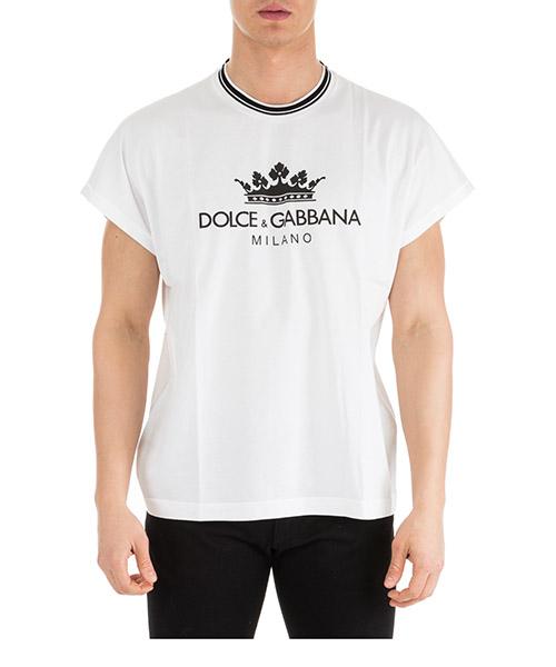 T-shirt Dolce&Gabbana G8IW5TFU7EQW0800 bianco