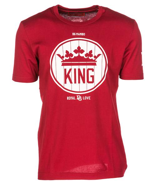 T-shirt Dolce&Gabbana Logo Print G8IY5TFU7EQR2243 rosso