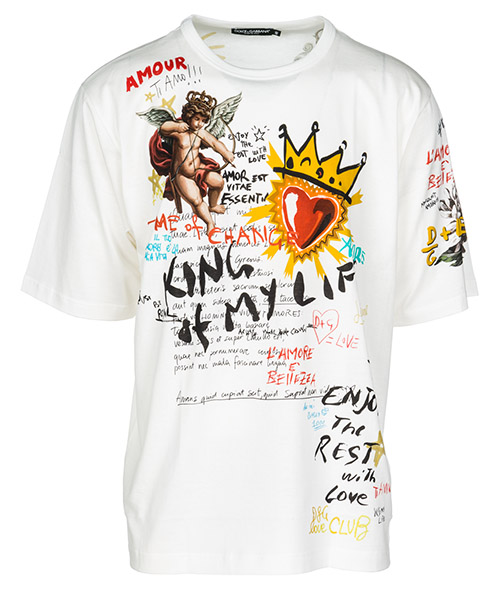 T-shirt Dolce&Gabbana G8JE5TFH705HWS87 bianco