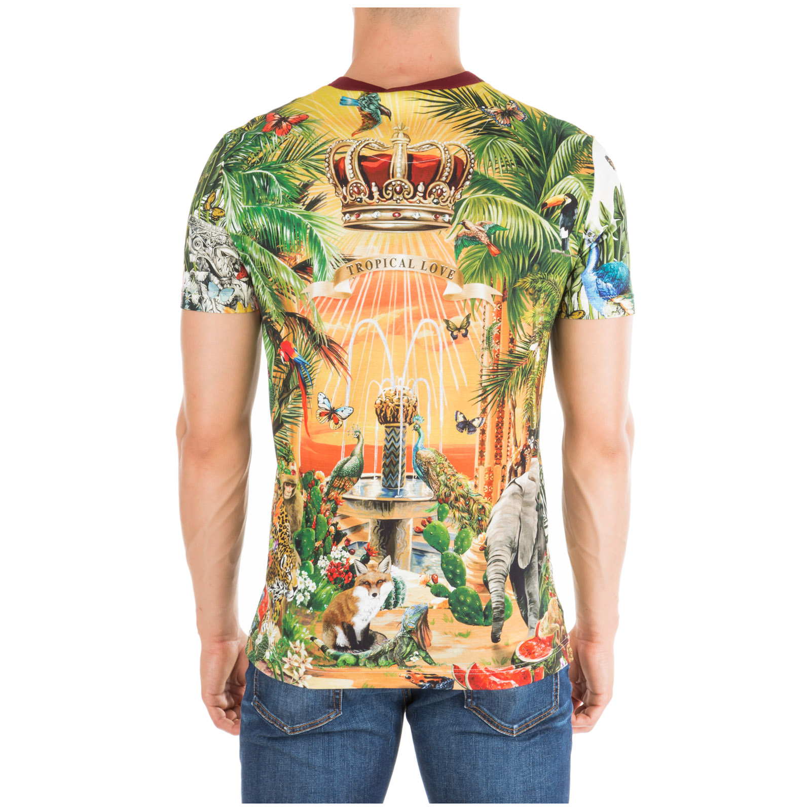 футболка с короткими рукавами круглый вырез горловины мужская tropical king