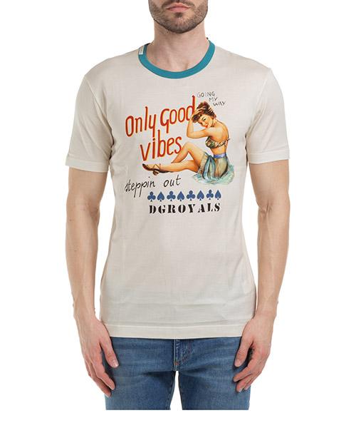 T-shirt Dolce&Gabbana G8KBATFI7VJHA1QC bianco
