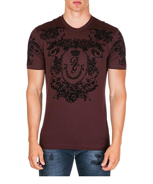 T-shirt Dolce&Gabbana g8kbatg7srhm5039 bordeaux