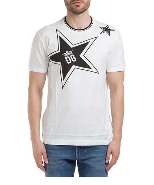 T-shirt Dolce&Gabbana stella G8KD0TFI7K3HA1DB bianco