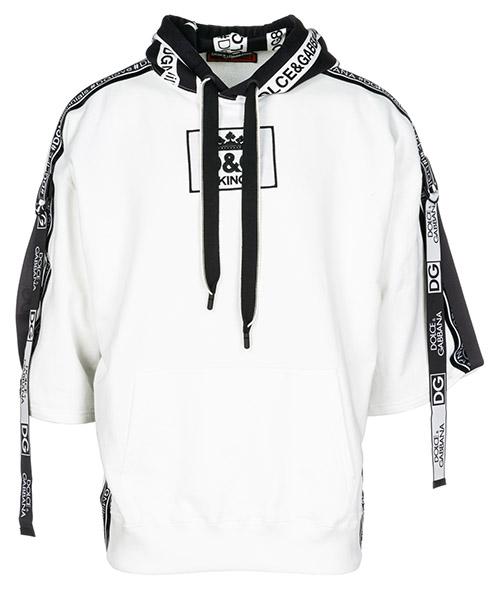 Hoodie Dolce&Gabbana G9KW2ZG7NCXW0111 bianco