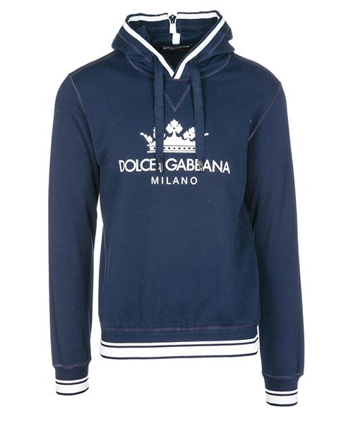 Толстовка с капюшоном Dolce&Gabbana G9MC0THU7ALB0665 blu