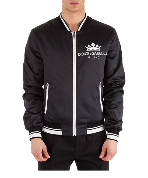 Bomber jacket Dolce&Gabbana G9NC8TFUM1RN0000 nero