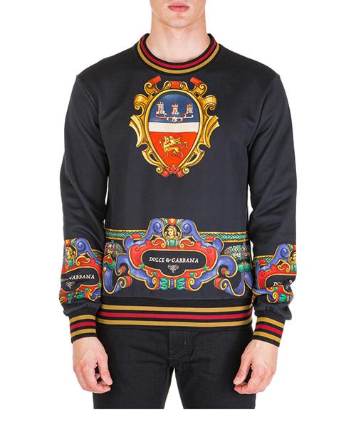 Felpa Dolce&Gabbana g9ow6thh76uhn28a nero