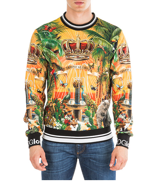Sudaderas Dolce&Gabbana Tropical king G9OW6THH7XPHHIH4 giallo