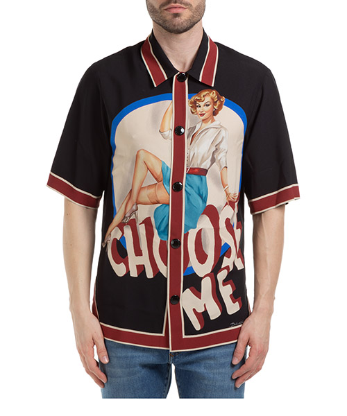 Short sleeve shirts Dolce&Gabbana pin-up G9SC4TFP8FBHN1LN nero