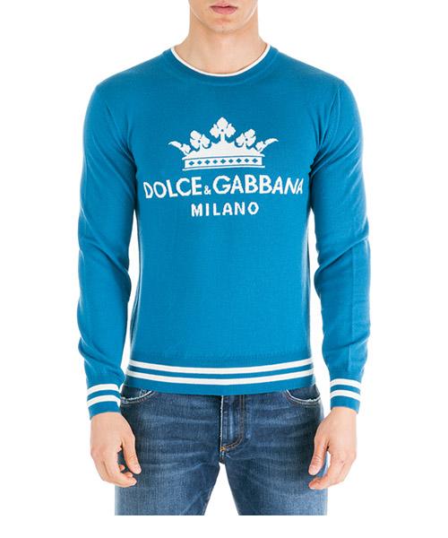 Maglione Dolce&Gabbana GX193TJAVKUB0966 azzurro