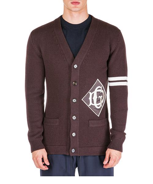 Cardigan Dolce&Gabbana Logo DG GX787ZJAVSCM1348 marrone