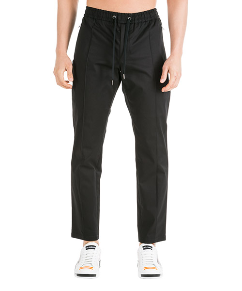 Trousers Dolce&Gabbana GYACETFUFISN0000 nero