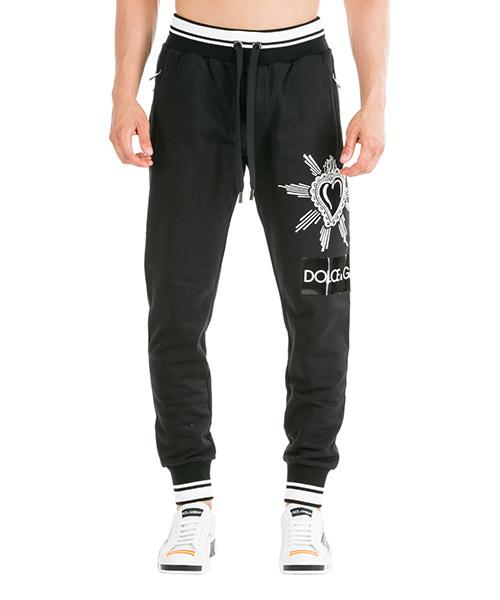 Pantalones deportivos Dolce&Gabbana GYUVATG7SLZN0000 nero