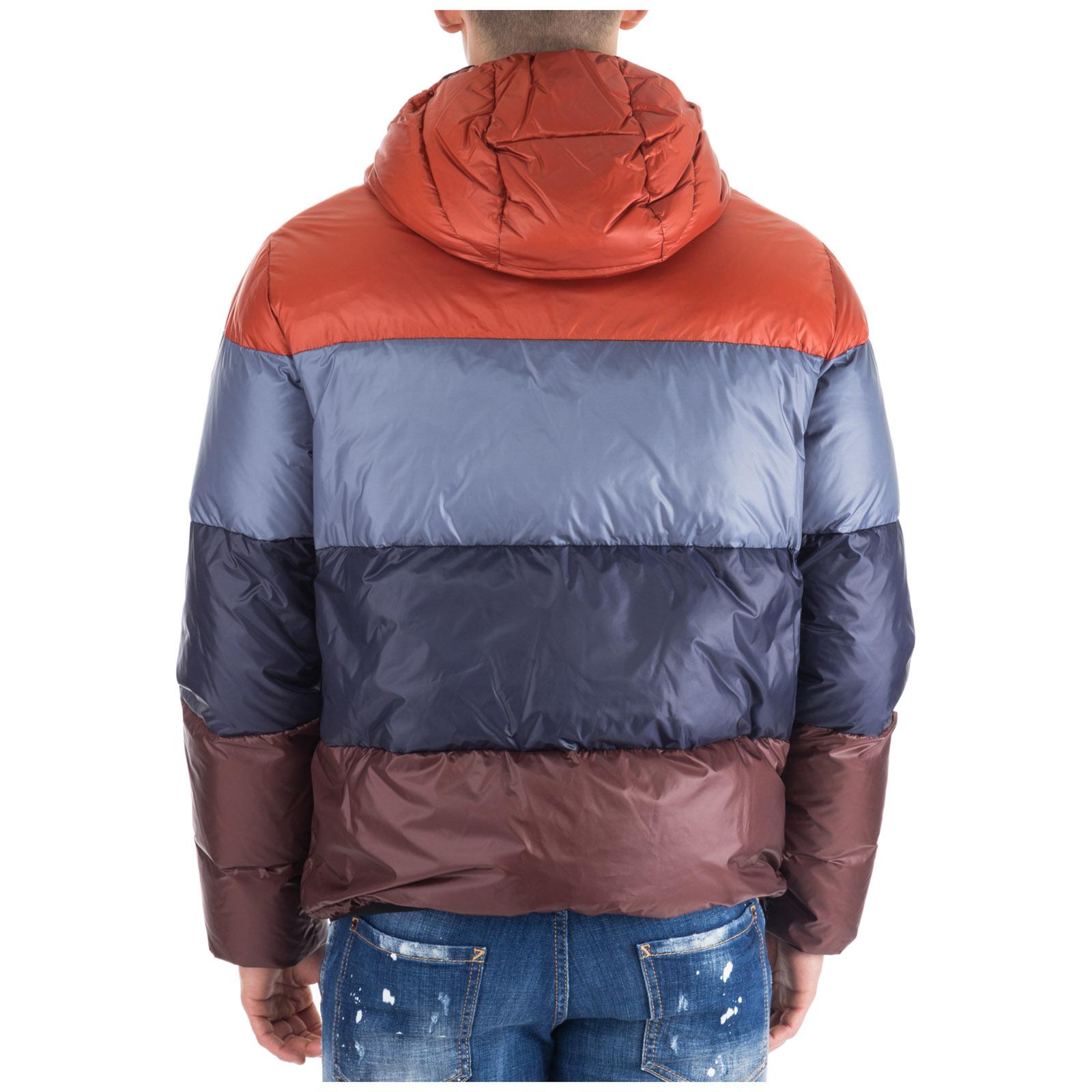 Men's outerwear down jacket blouson hood hooded