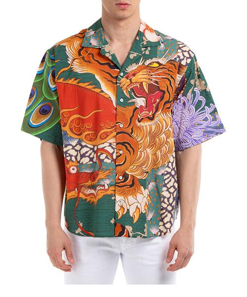 Short sleeve shirts Dsquared2 zodiac S71DM0405S52839001S arancione