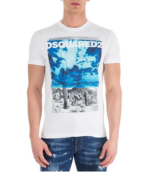 T-shirt Dsquared2 S71GD0676S22844100 bianco