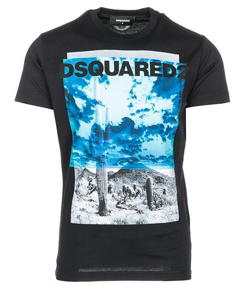 T-shirt Dsquared2 Cactus S71GD0676S22844900 nero