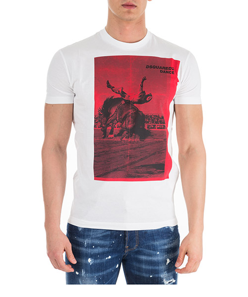 T-shirt Dsquared2 S71GD0712S22427100 bianco