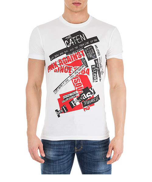 T-shirt Dsquared2 S71GD0742S22427100 bianco