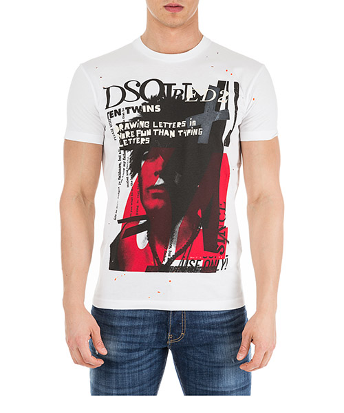 T-shirt Dsquared2 S71GD0744S22427100 bianco