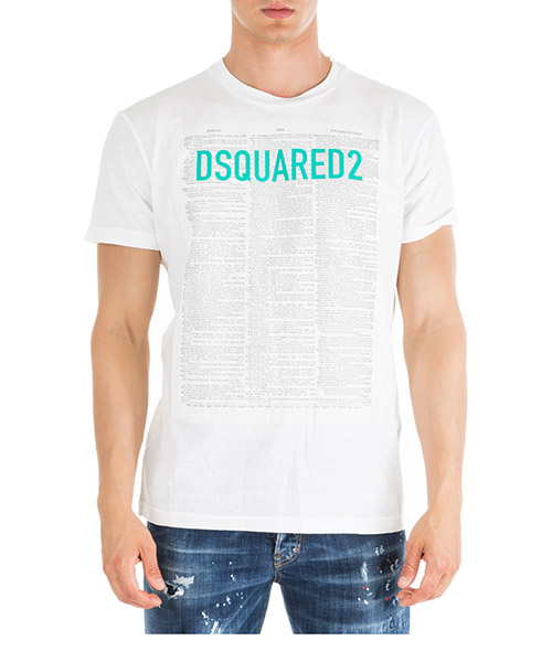 T-shirt Dsquared2 S71GD0748S22507100 bianco