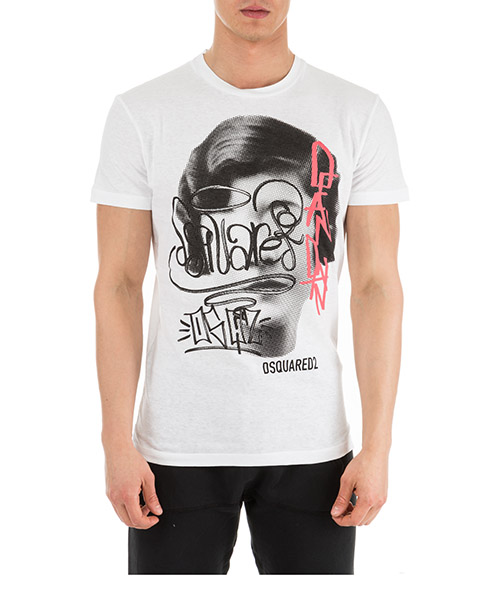 T-shirt Dsquared2 S71GD0750S22507100 bianco