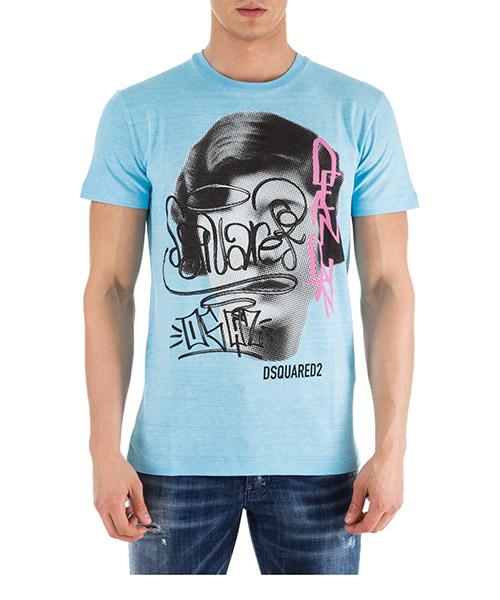 T-shirt Dsquared2 S71GD0750S22507512 azzurro