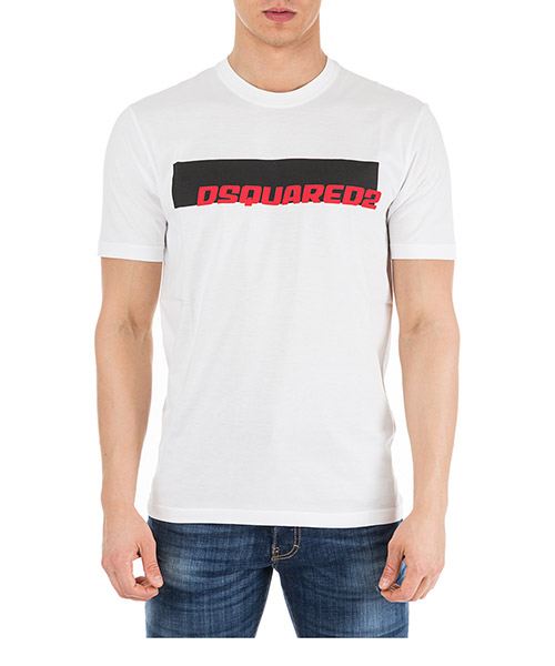T-shirt Dsquared2 S71GD0762S22427100 bianco