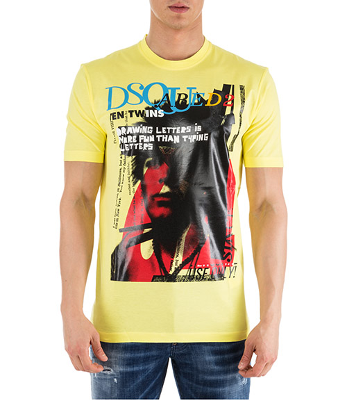 T-shirt Dsquared2 S71GD0763S22427172 giallo