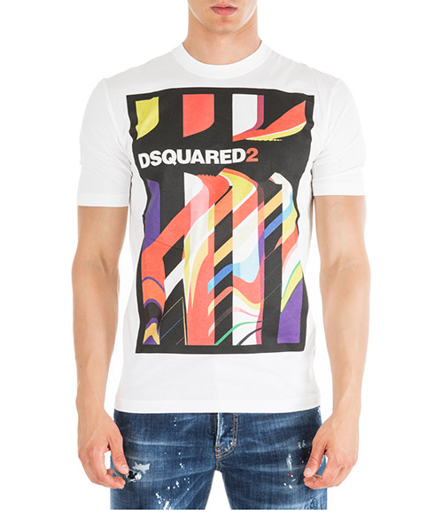T-shirt Dsquared2 s71gd0769s22427100 bianco