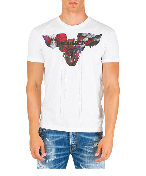 T-shirt manches courtes ras du cou homme winged skull