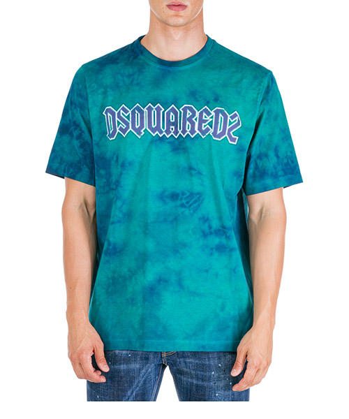 T-shirt Dsquared2 Tie-Dye S71GD0842S22427659 verde
