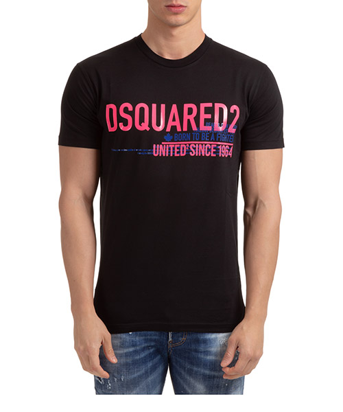 T-shirt Dsquared2 united since '64 S71GD0949S22427900 nero