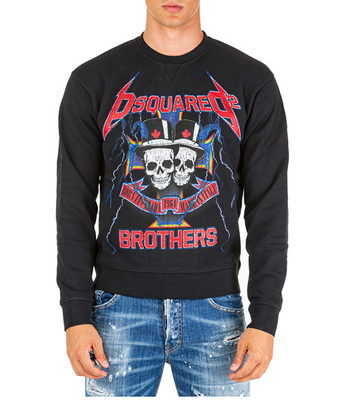 Men's sweatshirt sweat  skull brothers